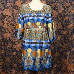Vintage Paisley Peasant Tunic Top